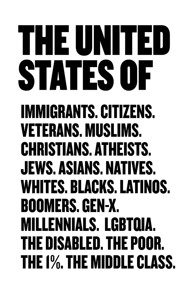 The United States of... protest poster