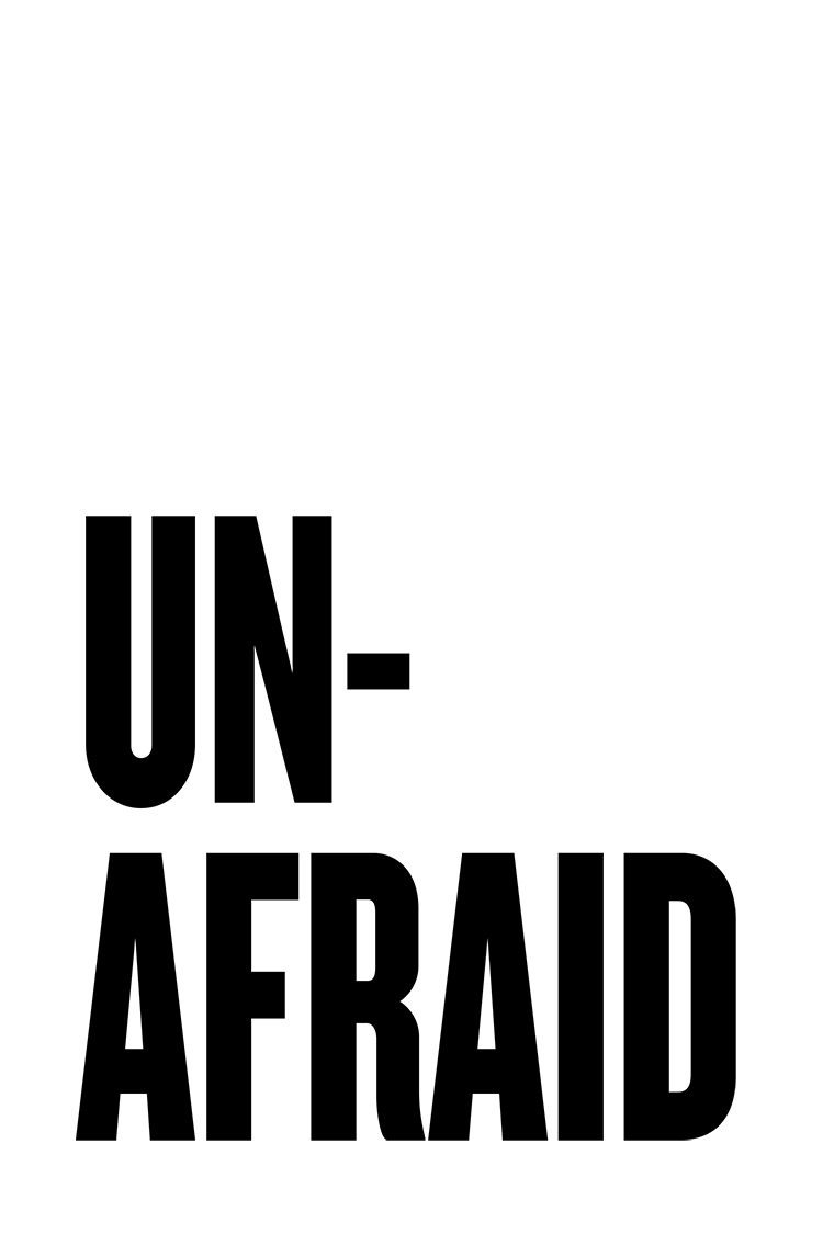 Unafraid protest poster