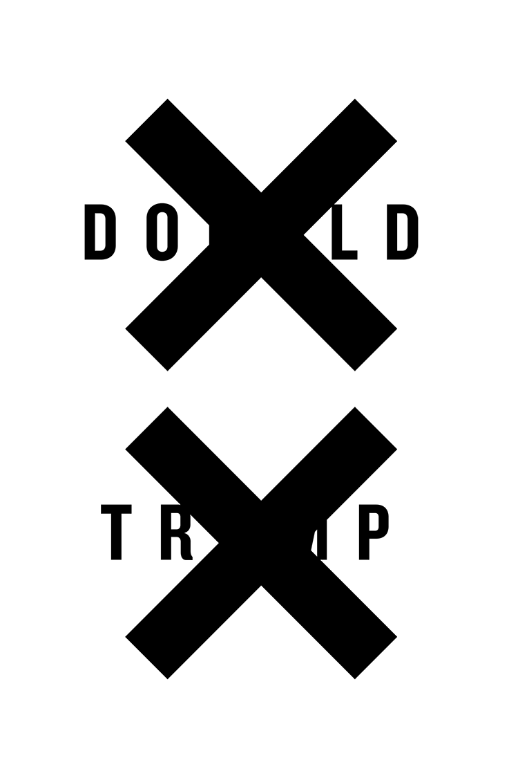 XX Donald Trump protest poster
