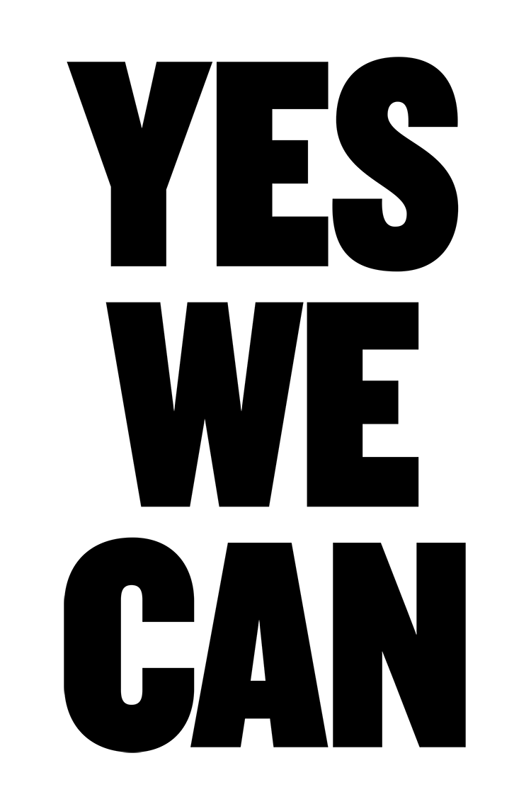 Yes We Can protest poster