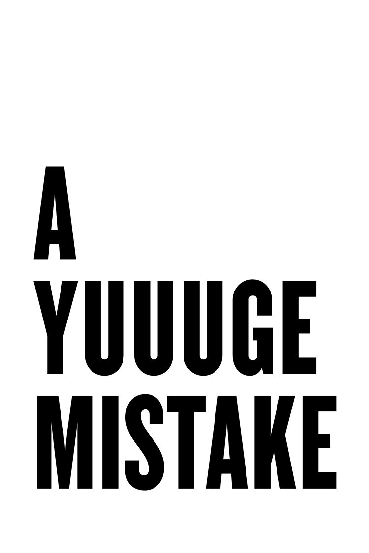 A Yuge Mistake poster